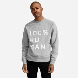 The 100% Human Unisex French Terry Sweatshirt in M